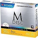 バーベイタムジャパン 三菱ケミカルメディア M-DISC 1回記録用 BD-R DL DBR50RMDP5V1 (片面3層/1-6倍速/5枚)