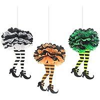 魔女のスカート ハロウィン飾り付け ペーパーフラワー ポンポン インテリア SUNBEAUTY 「3個セット」