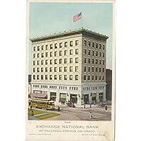 ヴィンテージはがき印刷| The Exchange National Bank of Colorado Springs、コロラド州、Capital $ 300, 000.00、Surplus $ 200,000.00、1898年| HistoricalアンティークFineアート複製 16in x 10in 446300_1610