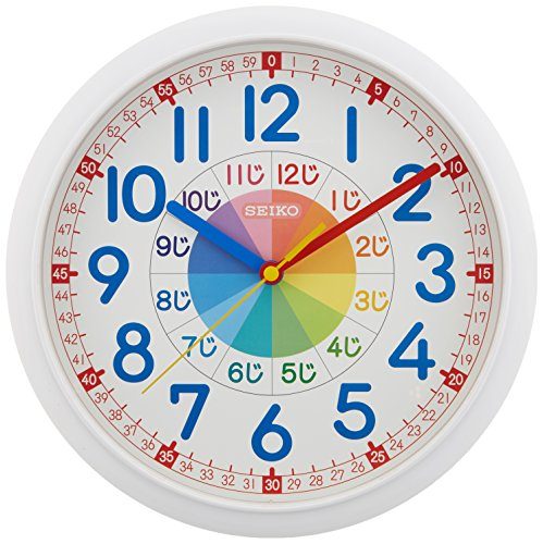 SEIKO CLOCK (セイコークロック) 掛け時計 知育 アナログ 白 KX617W