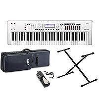 KORG KROSS2-61-SC (ホワイト) シンセサイザー 61鍵盤 シンプル4点セット 【ケース/スタンド/ペダル付き】 コルグ