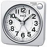 SEIKO CLOCK (セイコークロック) 目覚まし時計 アナログ PYXIS (ピクシス) 白パール NR437W
