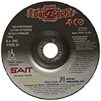 """United Abrasives SAIT 23336 Type 27 6-Inch x .045-Inch by 7/8-Inch Z-Tech High Performance Cutting Wheel, 50-Pack by """"United Abrasives, Inc."""""""