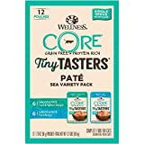 Wellness New CORE Natural Grain Free Tiny Tasters Seafood Pate Variety Pack, 1.75-Ounce (Pack of 12)