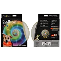 Nite-ize Flashflight Dog Discuit Disc - Disco, Multicolor Flying Toy by Nite Ize