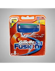 Gillette Fusion Manual Razor Blades Refills Safety Razor ドイツ製 8 Pack [並行輸入品]