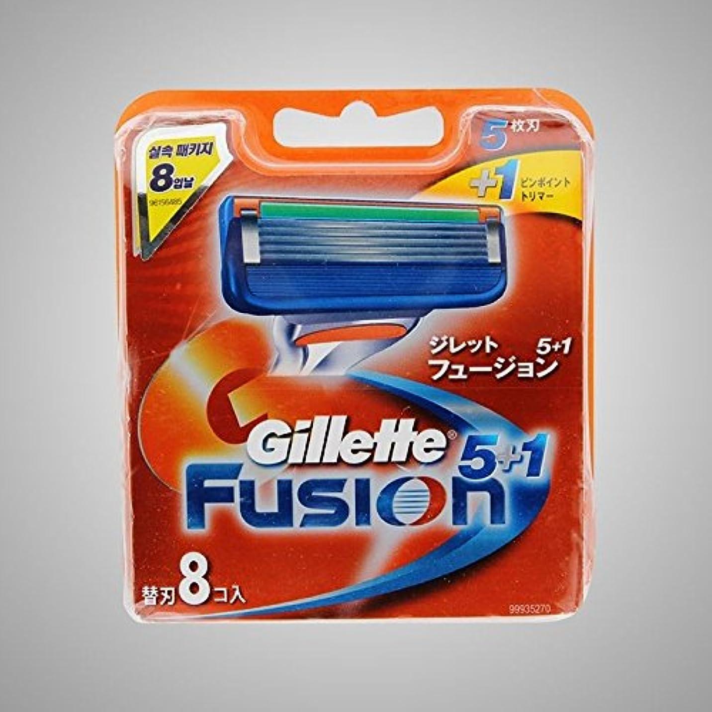 ビジュアル符号意気揚々Gillette Fusion Manual Razor Blades Refills Safety Razor ドイツ製 8 Pack [並行輸入品]