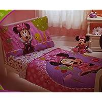 Disney Minnieマウス4ピース幼児用寝具;ベッドセット