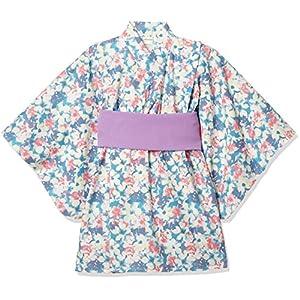 [タキヒヨー] 水彩花柄浴衣風ワンピース ガールズ 342447209 パープル 日本 90 (日本サイズ90 相当)