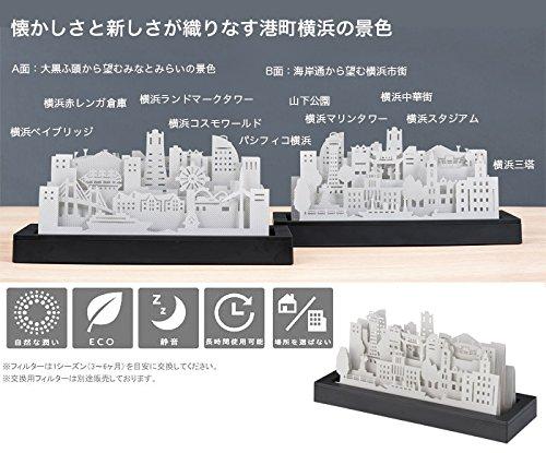 《横浜の街並みをお手元に》IKOR la ville 007 YOKOHAMA(イコー ラ・ヴィル 007 横浜)自然気化式加湿器