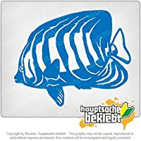 魚の水族館 Fish Fish Aquarium 13cm x 10cm 15色 - ネオン+クロム! ステッカービニールオートバイ