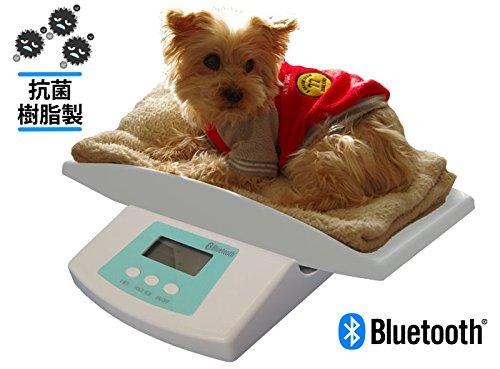 メーカー直販 Bluetooth通信機能搭載 抗菌ペット用体重計スマートベビ...
