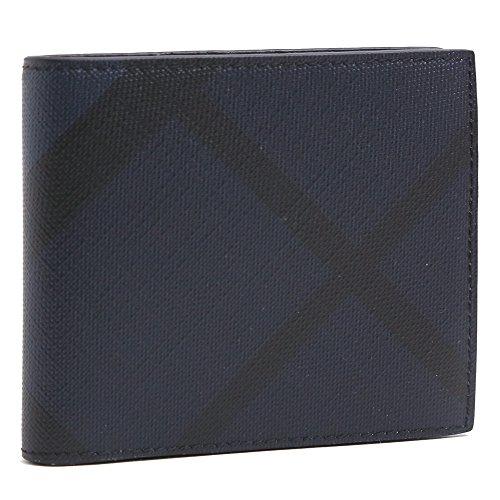 (バーバリー) BURBERRY CCBILLCOIN ロンドンチェック 小銭入れ付き 二つ折り財布 3998944 4100B/NAVY*BLACK/LONDON CHECK [並行輸入品]