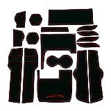 【右ハンドル専用】ホンダ 新型シビック/セダン/ハッチバック/TypeR専用インテリアラバーマット【赤/RED】ドアポケットマット コンソールマット(FC1/FK7/FK8)