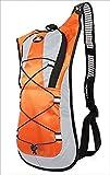 (チャルト)CHALT 選べる5色 サイクリングバック 超軽量バックパック 登山リュックサック ランニングバック あらゆるスポーツにフィット ハイドレーション対応(オレンジ)