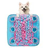 Wooce 犬 ノーズワークマット 猫 餌入れおもちゃ 訓練毛布 ペット嗅覚訓練マット 嗅覚訓練 分離不安 餌隠しマット 食いちぎる対策 運動不足 ストレス解消 集中力向上 知育玩具 (ブルー)
