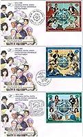 UPU125年の切手/国連1999年発行初日カバー3通セット 万国郵便連合
