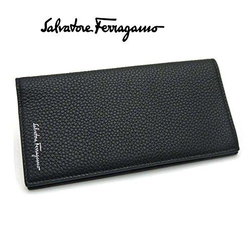 (フェラガモ)ferragamo メンズ長財布・66-0822 NERO ブラック 並行輸入品