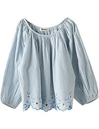(コーエン) COEN 【Market】スカラップ刺繍ブラウス(エンブロイダリーブラウス) 76106028007