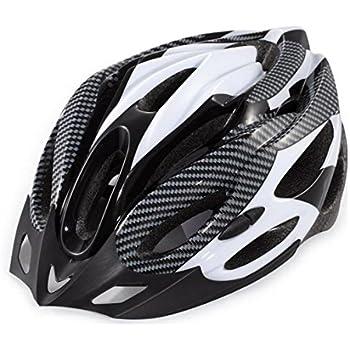 ノーブランド品 自転車用 サイクリング ヘルメットHEL001 (タイプD(白/黒))