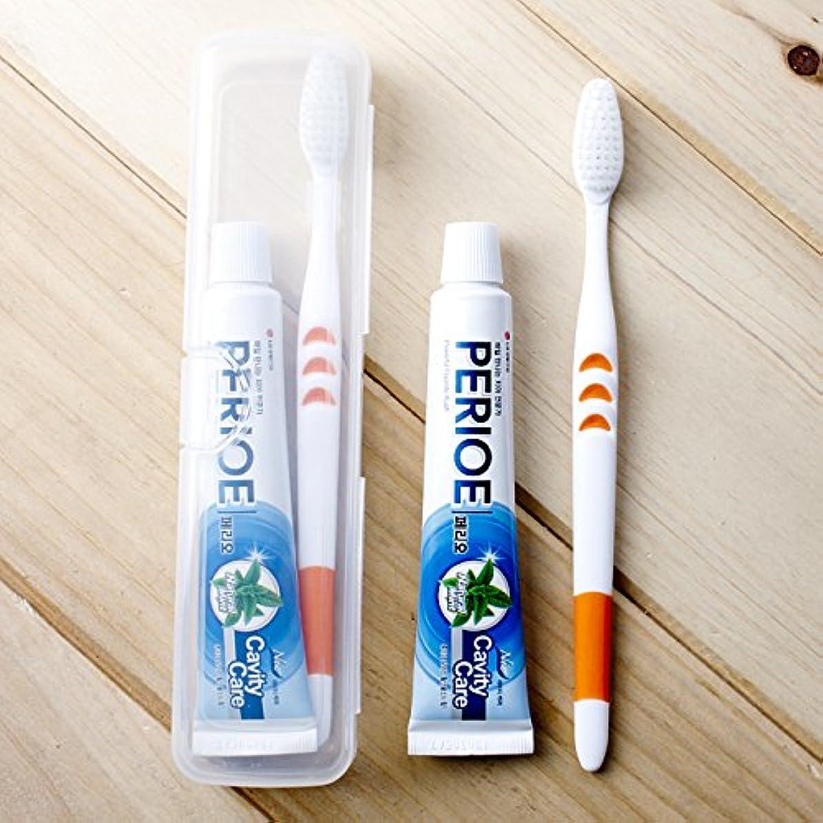 矩形液体ハイランドVBMDoM 旅行歯ブラシキットセット x 2個 韓国製品 [並行輸入品]
