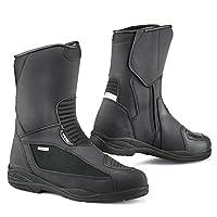 TCX Explorer EVO GTX Gore - Tex防水オートバイツーリングブーツ–ブラック EU 45 ブラック 130/7123G/BLK/45