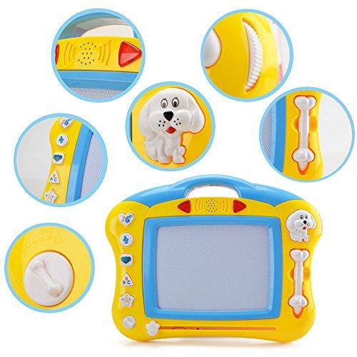 お絵かきボード 知育玩具シリーズ せんせい おえかき Wishtime 音と光を楽しめる 幼児おもちゃ 磁石 マグネットスタンプ付属 JSL18004