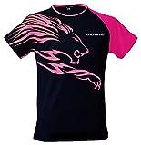 DONIC(ドニック) 卓球 ライオン (男女兼用) シャツ GL079 ブラック×マゼンダ Lサイズ