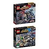 レゴスーパーヒーロー2個セット カーネギーのシールドスカイアタック&クラッシュオブヒーロー