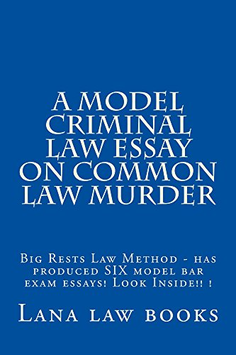 a model criminal law essay on common law murder amazon kindle law  a model criminal law essay on common law murder amazon kindle law books bar