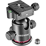 Neewer Professional Metal 360 Degree Rotating Panoramic Ball Head with 1/4 inch Quick Release Plate and Bubble Level,up to 17.6pounds/8kilograms,for Tripod,Monopod,Slider,DSLR Camera,Camcorder
