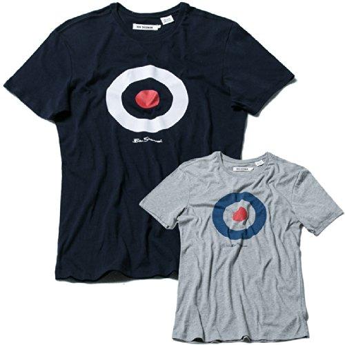 ベンシャーマン BEN SHERMAN Tシャツ 半袖 ロゴプリント メンズ グレー Mサイズ 並行輸入品 VITA466-GREY-M