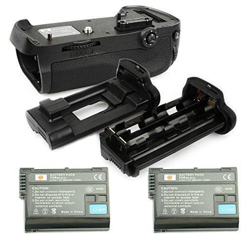 DSTE® プロ 互? MB-D12 垂直 バッテリーグリップ + 2x EN-EL15 のために Nikon ニコン D800 D810 D800E D800S カメラ