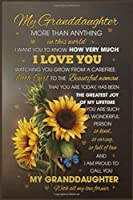 To My Granđaughter More Than Anything in This World I Want You To Know How Very Much I Love You Lined Notebook Journal, 100 Pages (6 x 9 Inches) Blank Ruled Writing Journal With Inspirational Quotes, Perfect Diary Notebook Gifts