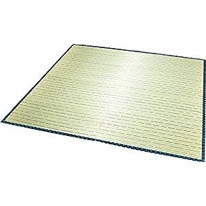 大島屋 い草 ラグ イ草 ラグ ソリッド 約2帖 フローリング対応 い草 ブルー 約176×176cm