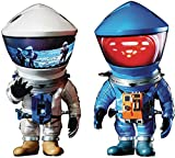 2001:スペースオデッセイ:DF宇宙飛行士ブルー&シルバーデフロリアルソフトビニール像2パック