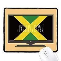 ジャマイカ国の旗の名 マウスパッド・ノンスリップゴムパッドのゲーム事務所