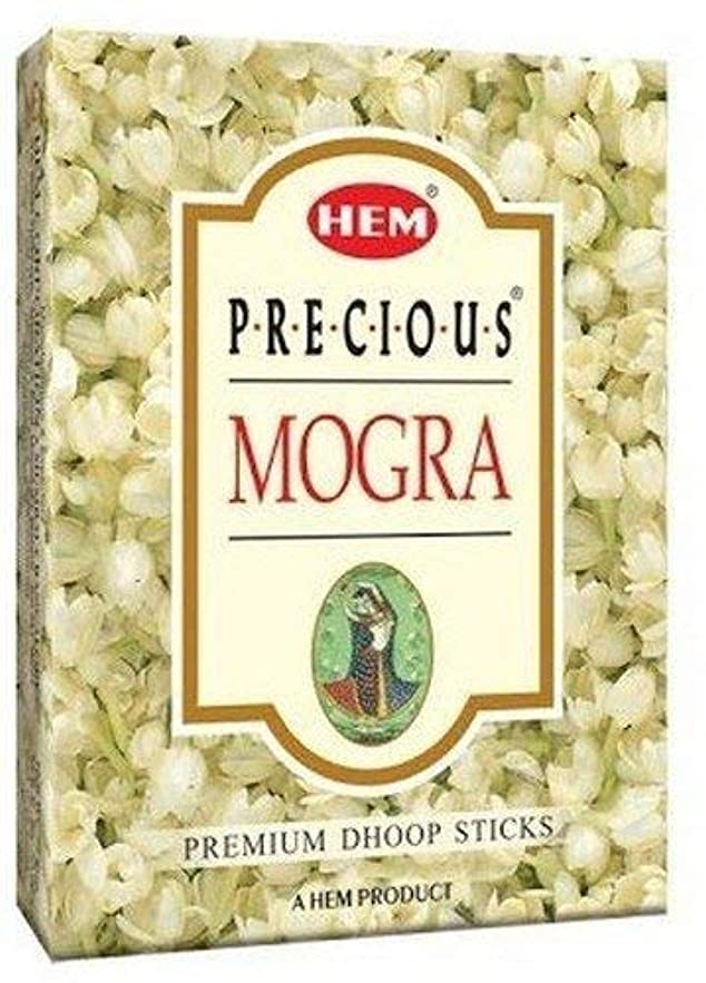 ディレクトリ属性後方にHem Precious Mogra Dhoop - 75 g