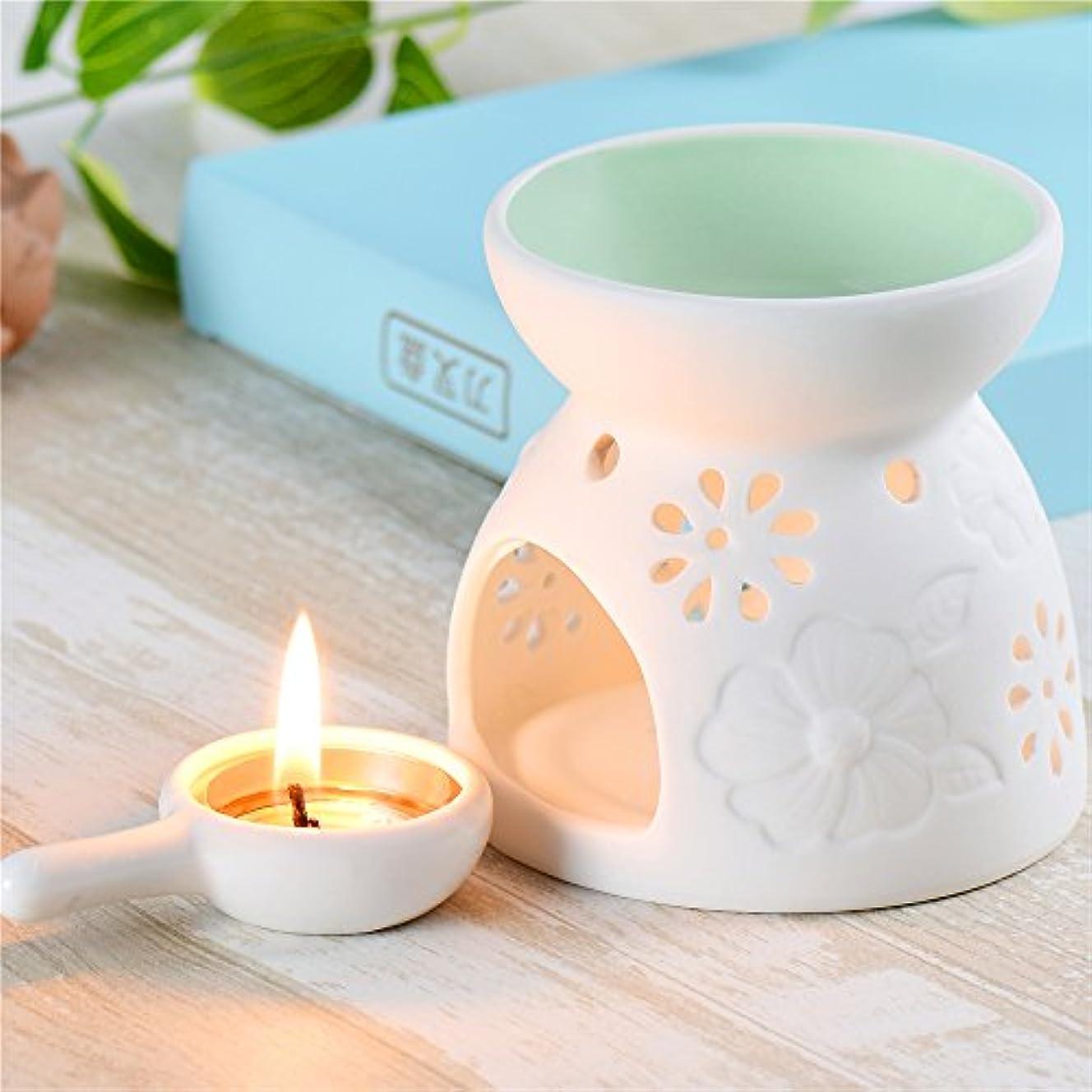 トンネル気楽な小間セラミックEssential Oil Warmer : Great for瞑想、アロマセラピー – Fragrance Diffuser使用with Tea Lights – Ideal For Wedding Gifts...