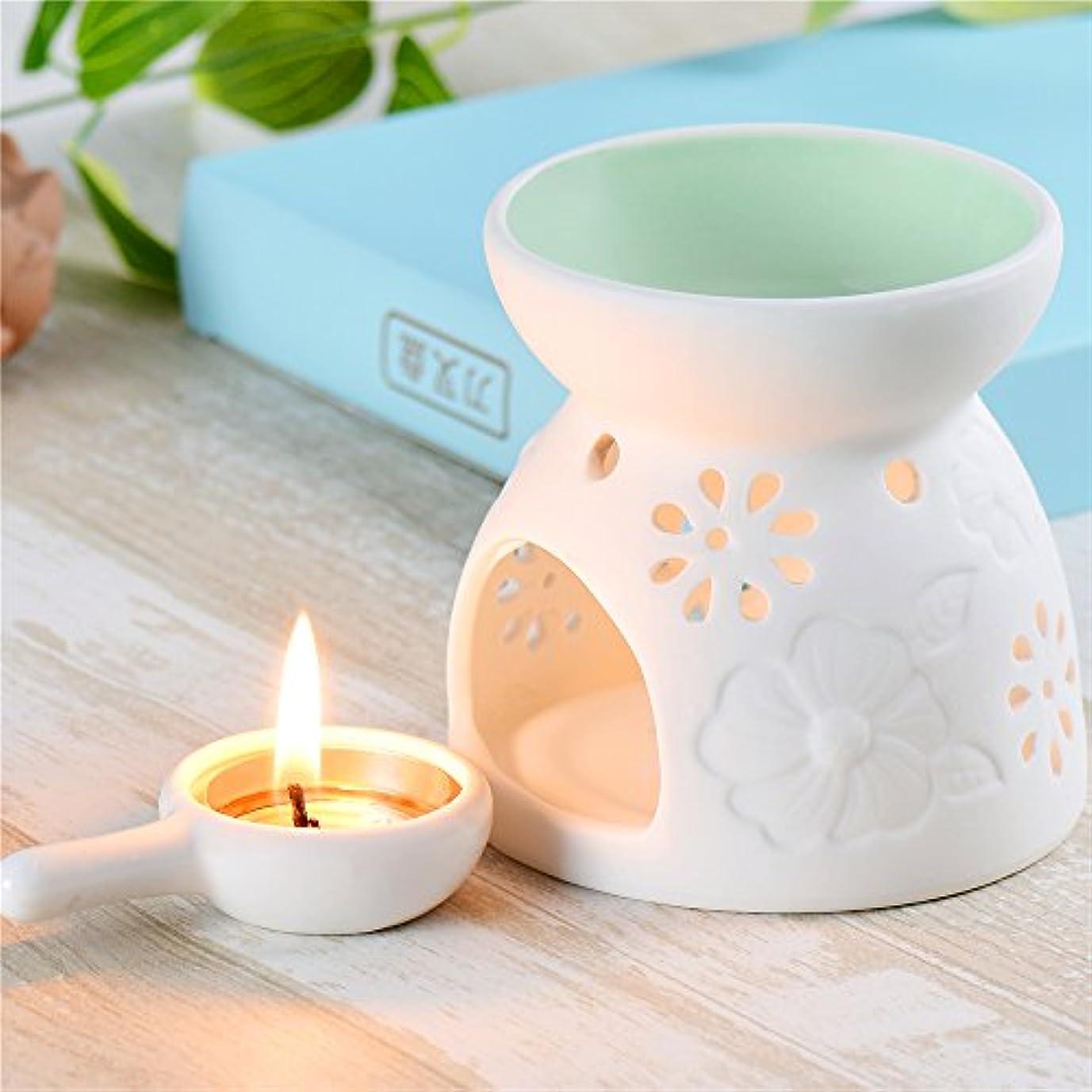 より平らなバイオリン快いセラミックEssential Oil Warmer : Great for瞑想、アロマセラピー – Fragrance Diffuser使用with Tea Lights – Ideal For Wedding Gifts...
