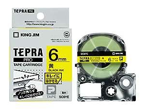 キングジム テープカートリッジ テプラPRO キレイにはがせるラベル 6mm 黄 SC6YE