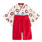 (キッズクール) Kizzu Kuru105%綿 女の子 ベビー用 ロンパース 着物 フォーマル お宮参り 七五三 赤ちゃん 記念