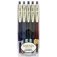 ゼブラ ジェルボールペン サラサクリップ 0.5 ビンテージ5色 JJ15-5C-VI
