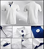 BINGKA メンズ 無地 ポロシャツ 半袖 ポロ POLO ゴルフ ラガーシャツ 繊維 ラルフローレン