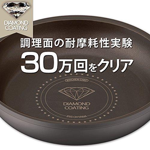 【Amazon.co.jp限定】アイリスオーヤマ 鍋 フライパン セット 「ダイヤモンドコートパン」 取っ手の取れる IH対応 シルバー セット9