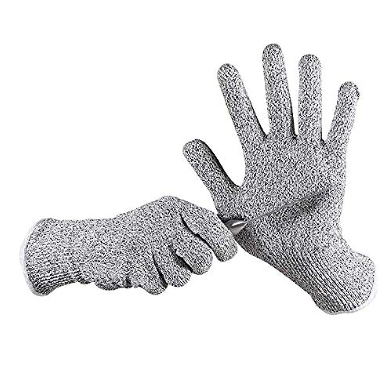 チラチラする模索鉛筆カット性手袋、高性能レベル5の保護、食品グレード、安全キッチン作業や園芸用手袋をカット、1ペア