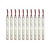 LEDマーカー 24V 防水 10cm×10本 ホワイト トラックパーツ サイドマーカー デイライト LEDテープ ライト