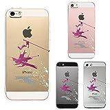 iPhone SE iPhone5S/5 対応 ハード クリア ケース 保護フィルム付 フリースタイル スキー
