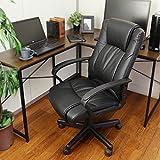 OFFICE Creator ロッキング機能付きオフィスチェア ハイバックPUチェア ブラック