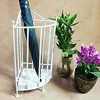 スーパーの品質 傘立て, 床立つ 性格 ファッション 欧州 アイアンアート 傘立て エントリ 廊下 装飾-白 23*50cm